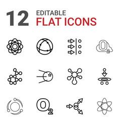 Molecular icons vector