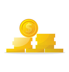 money icon on white background coins vector image