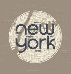 New york t-shirt and apparel design print vector
