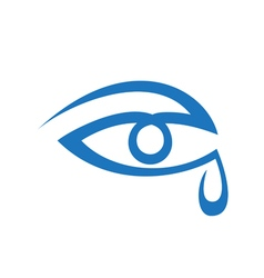 Original Stylized Eye With Tear vector image