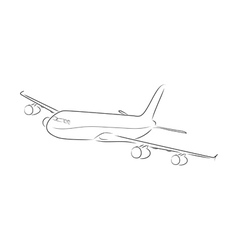 Outline of airplane vector image