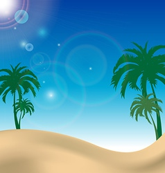 palm beach landscape with blue sky vector image