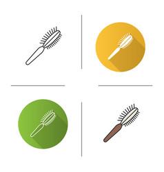 Pet hair brush icon vector
