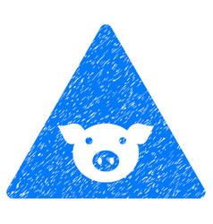 Pig error icon grunge watermark vector
