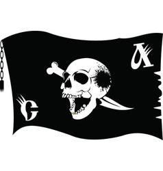 Pirate flag cartoon vector image
