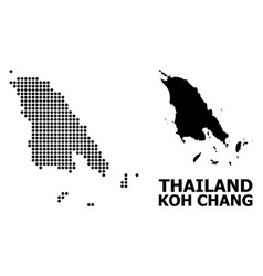 Pixelated pattern map koh chang vector