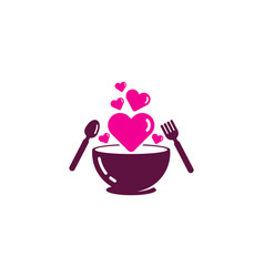 romance food logo icon design vector image
