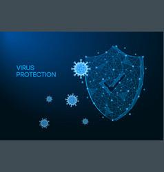 security shield for virus protection coronavirus vector image