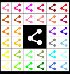 Share sign felt-pen 33 vector