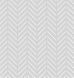 Slim gray dotted chevron vector