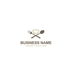 spoon food restaurant logo vector image