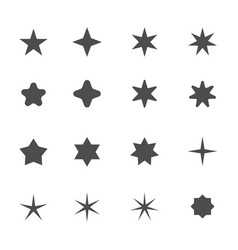 Star shape icons vector