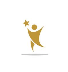 Success man icon logo design vector
