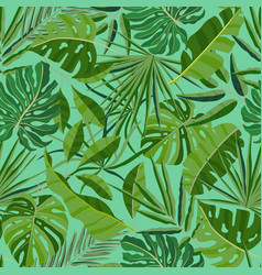 summer seamless pattern with exotic foliage vector image