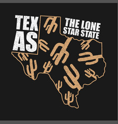 texas apparel print vector image