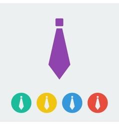 tie flat circle icon vector image