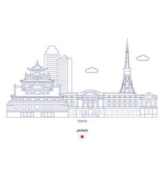 tokyo linear city skyline vector image