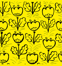 tulip flowers seamless pattern floral artistic vector image