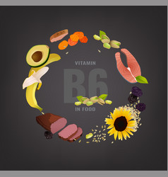 vitamin creative background vector image