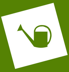 Watering sign white icon obtained as a vector
