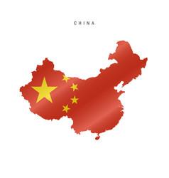 Waving flag map china vector