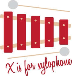 X for xylophone vector