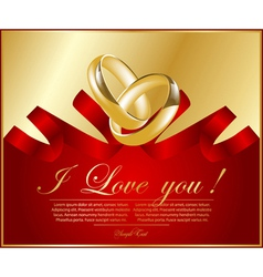 Abstract frame with wedding rings vector