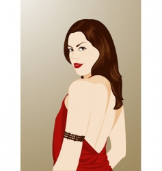 cartoon brunette vector image