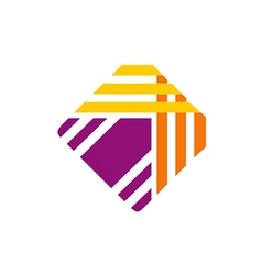 Coupon abstract paper logo vector