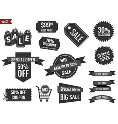 discount coupons set sale banners special offer vector image vector image