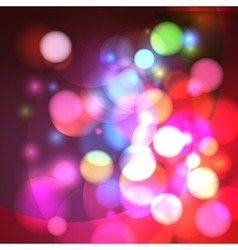 Abstract bokeh effect background vector image vector image