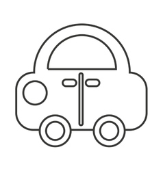 car vehicle toy kids icon vector image