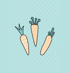 carrot card vector image vector image