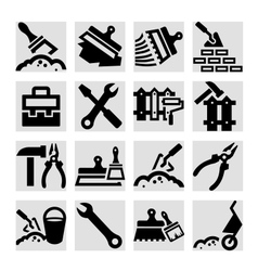 construction and repair icons set vector image vector image