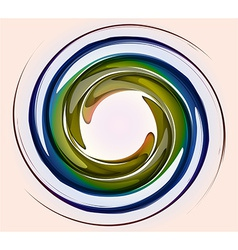 Spiral abstract color vector image