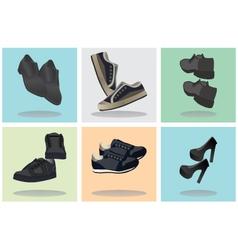 Footwear Icons vector image