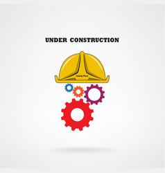 Under construction conceptual background vector image