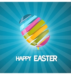 Blue Easter Background with 3d Abstract Egg vector image vector image