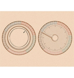 button and dial vector image vector image