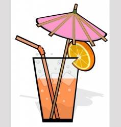 cool refreshing drink vector image vector image