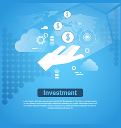 Investment template web banner with copy space vector