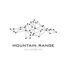 Mountain Range graphic logo logo template vector image