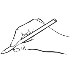 writing hand with pencil vector image