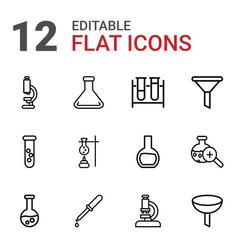 12 laboratory icons vector