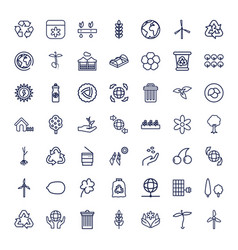 49 ecology icons vector