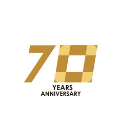 70 year anniversary template design vector image