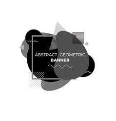abstract creative geometric banner template vector image