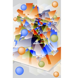 Abstract futuristic background with geometric vector image