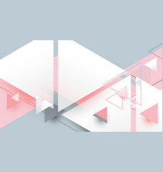 abstract geometric triangles minimal background vector image