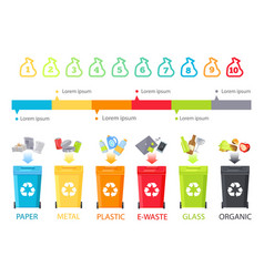abstract rubbish allocation and colorful info line vector image